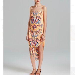 Mara Hoffman tangerine geometric strappy dress